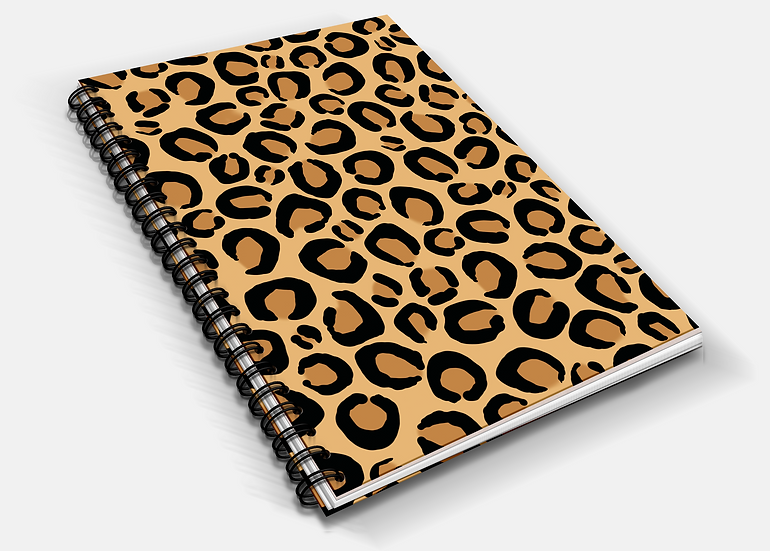 Leopard Print A5 Notebook | Plain or Lined