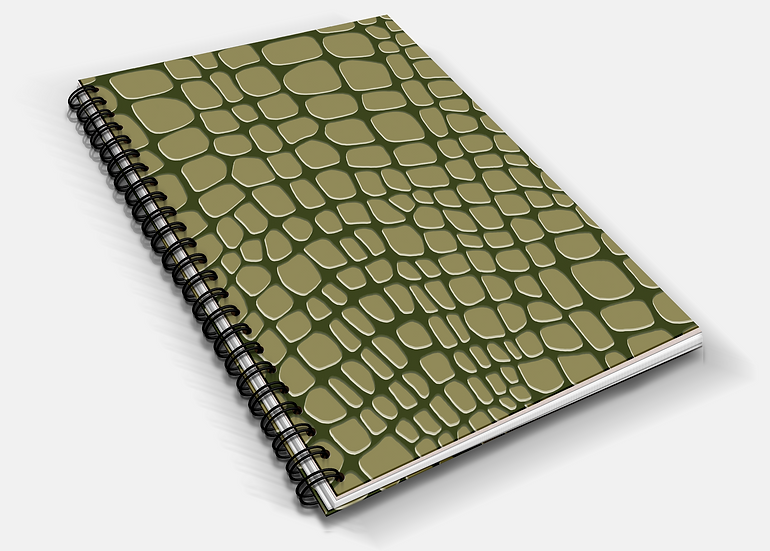 Crocodile Print A5 Notebook | Plain or Lined