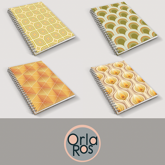 Retro Collection A5 Notebooks | Set of 4