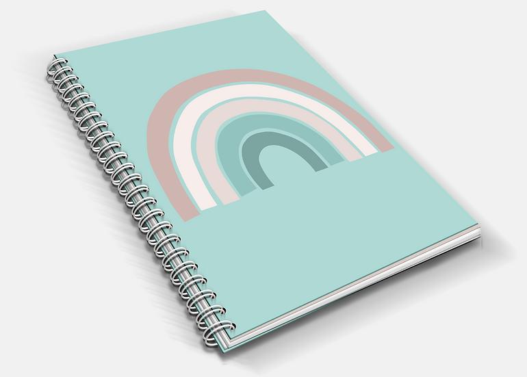 Calm Rainbow   A5 Notebook   Plain or Lined