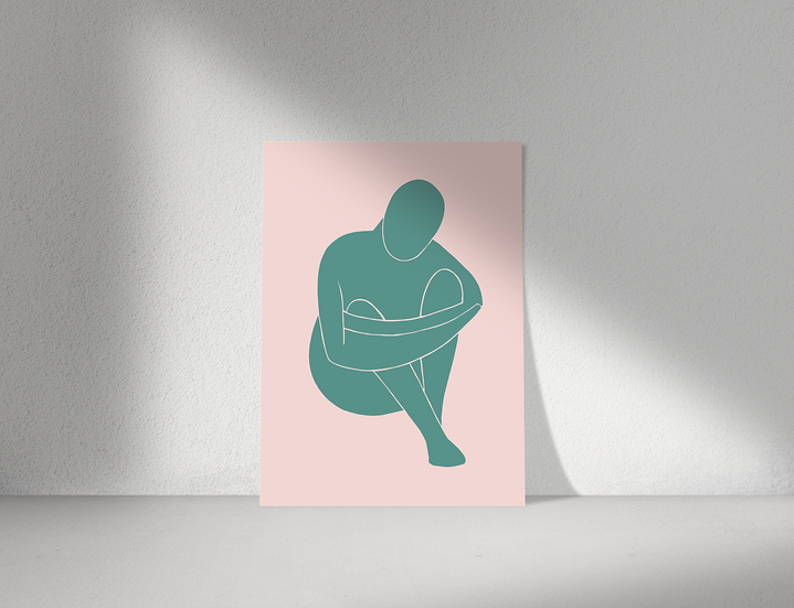 Protect   Abstract Figure Wall Print   Figures Range   A3 or A4 from £13.50