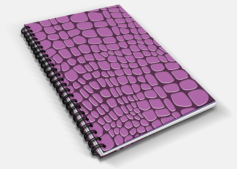 Vivid Crocodile Print A5 Notebook | Plain or Lined