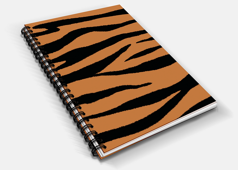 Tiger Print A5 Notebook | Plain or Lined