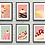 Thumbnail: Gallery Wall Print Set | Retro Desserts  | A3 or A4