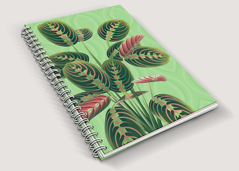 Prayer Plant A5 Notebook