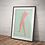 Thumbnail: Stretch   Abstract Male Nude Wall Print   Figures Range   A3 or A4 from £13.50