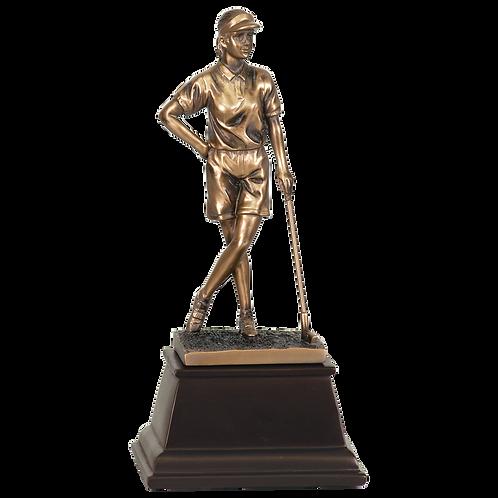 Bronze Female Golfer Resin Award