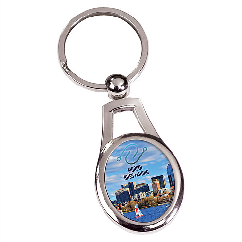 Silver Oval Keychain