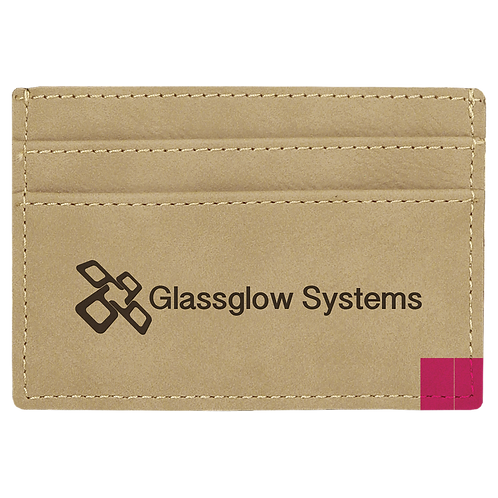 Light Brown Leatherette Wallet Clip