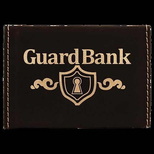 Black & Gold Leatherette Hard Business Card Holder