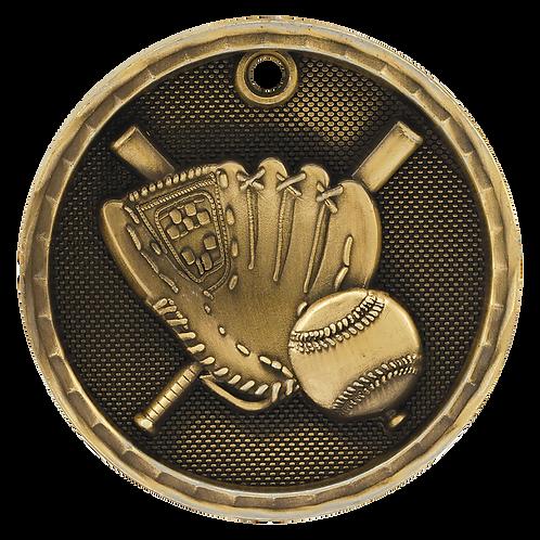 Baseball/Softball 3D Medal