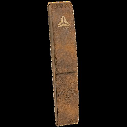 Rustic & Gold Leatherette Single Pen Case