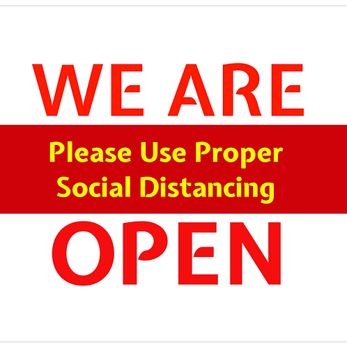 We Are Open Vinyl Sign