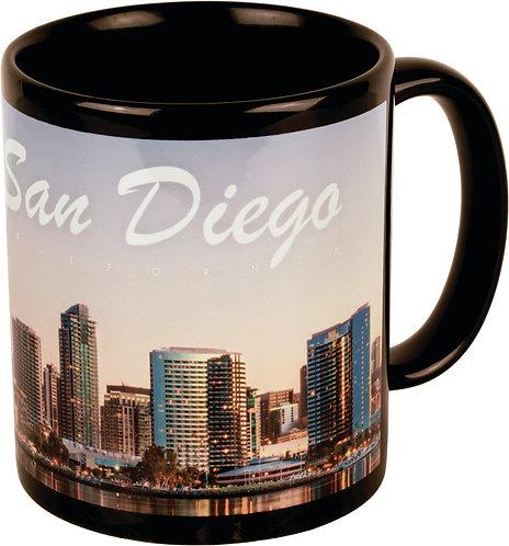 11 oz. black & White Ceramic Banner Mug