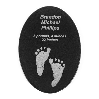 Engraved Birth Announcement