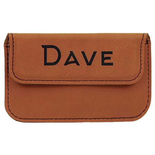 Rawhide Leatherette Flexible Business Card Holder