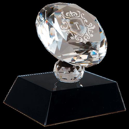 CRYSTAL DIAMOND ON BLACK BASE