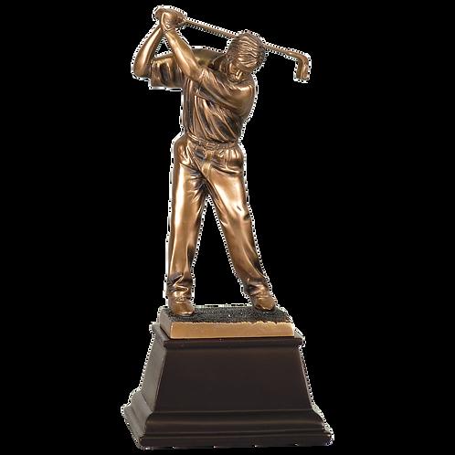 Bronze Male Golfer Resin Award