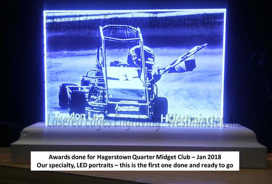 LED Custom Engraved Award