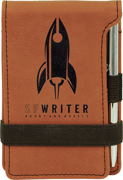 Rawhide Leatherette Mini Notepad with Pen & Paper