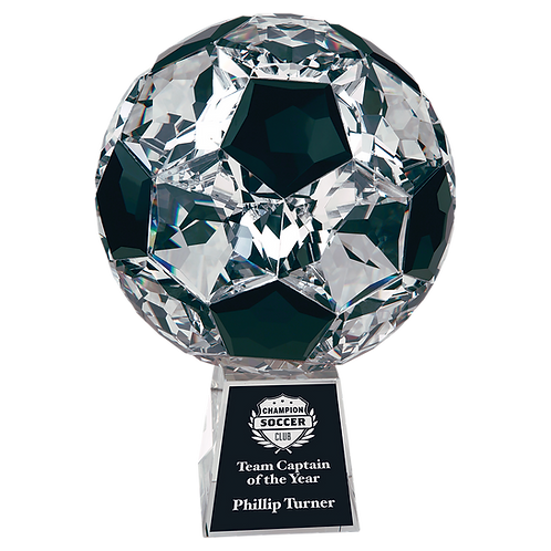 Small Crystal Soccer Ball with Base