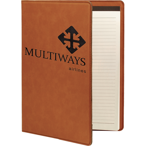 Rawhide Leatherette Portfolio with Notepad