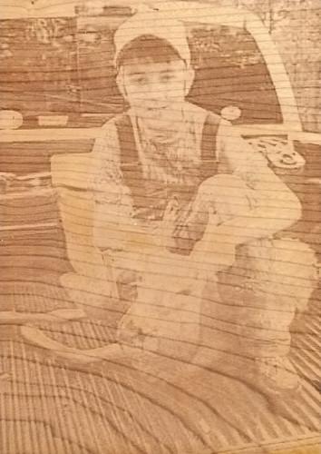 Engraved Wood: First Deer