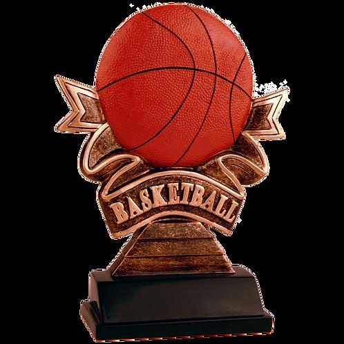 Basketball Ribbon Resin Award