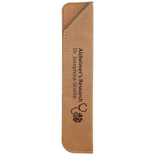Light Brown Leatherette Pen Sleeve