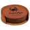 Thumbnail: Rawhide Leatherette Round 6-Coaster Set