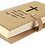 Thumbnail: Light Brown Leatherette Book/Bible Cover with Snap Closure