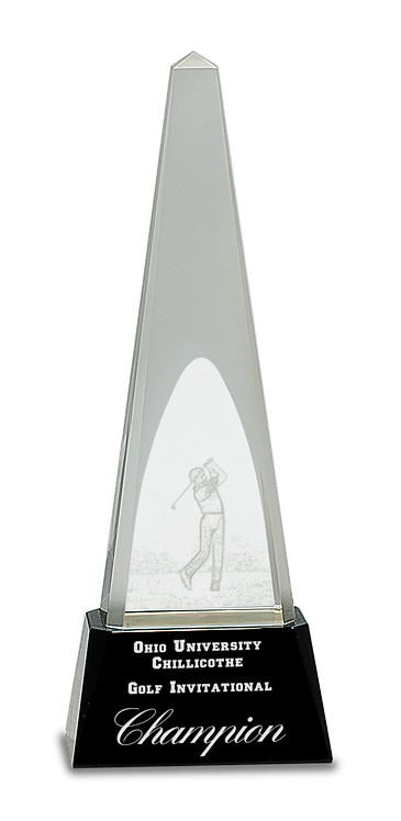 PEDESTAL GOLF CRYSTAL