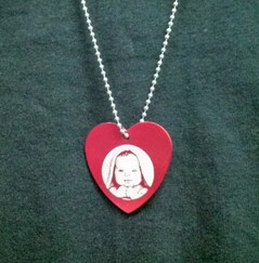 Engraved Heart Penant