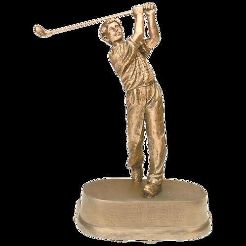 Antique Gold Male Golf Award