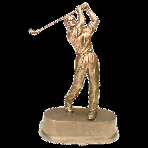 Antique Gold Female Golf Resin