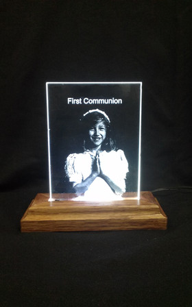 LED Engraved First Communion