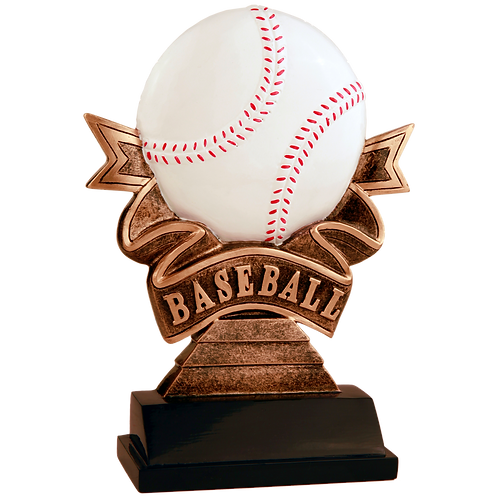 Baseball Ribbon Resin