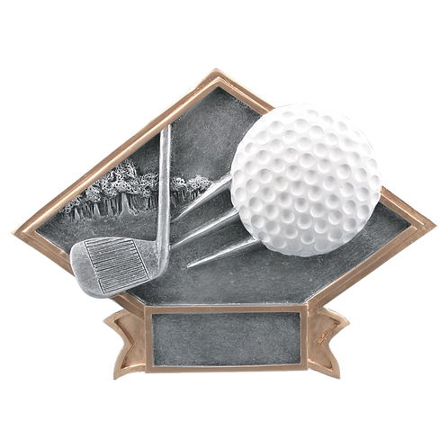 Large Diamond Plate Golf Award
