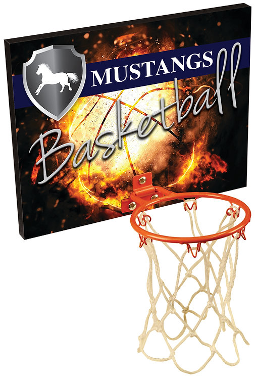 Medium Basketball Hoop Plaque