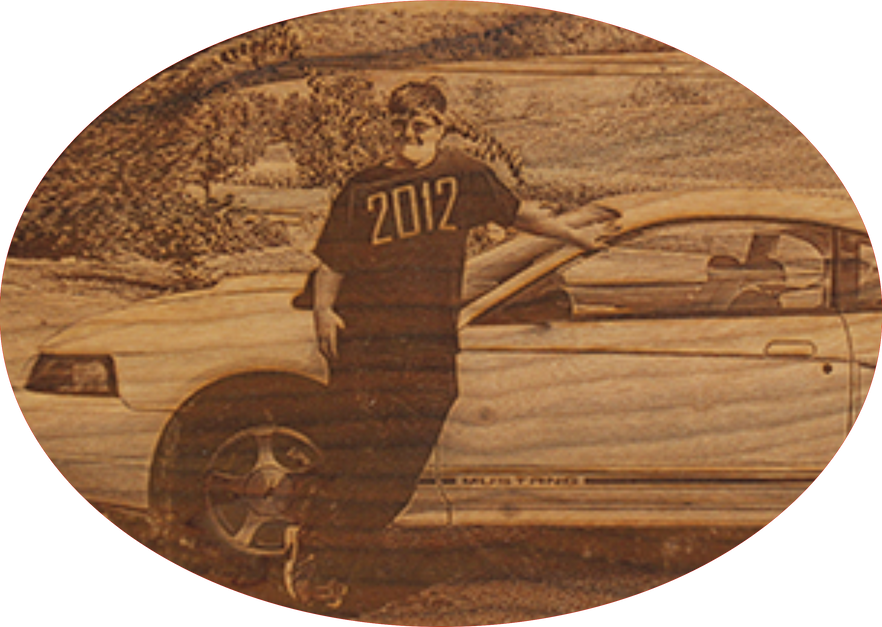 Engraved Wood: First Car
