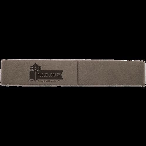 Gray Leatherette Single Pen Case