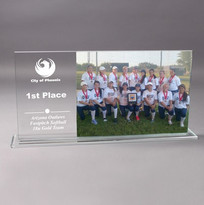 Engraved Award with Photo Frame