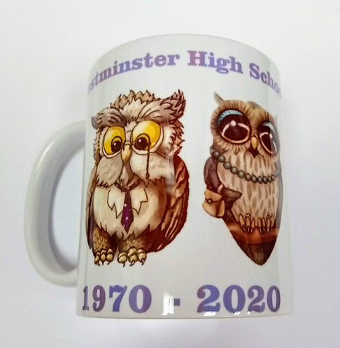 12 Oz White Coffee Mug, WHS 1970 Class Reunion
