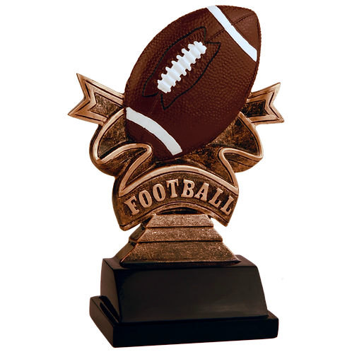 Football Ribbon Resin Award
