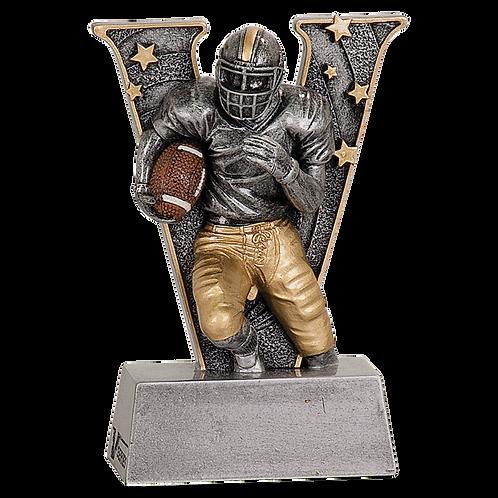 """Football """"V"""" Resin Award"""