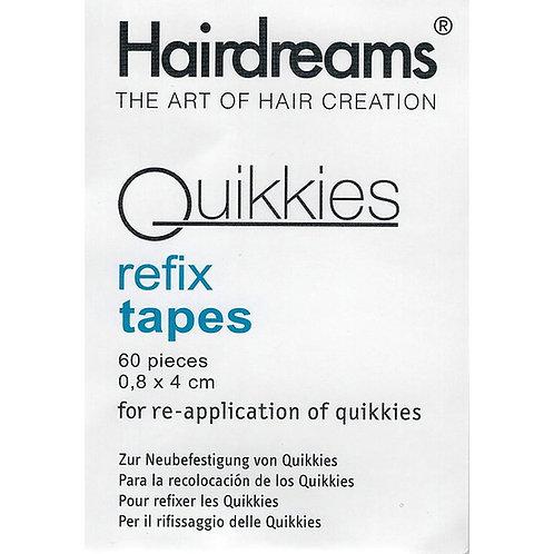 60 Hairdreams Quikkies refix tapes | Zur Neubefestigung von Quikkies