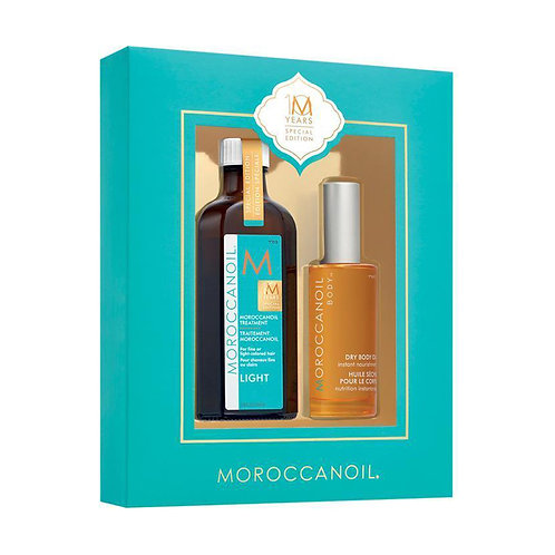 Moroccanoil light Spez. Ed. Set: | Arganöl Treatment 125ml + Dry Body Oil 50ml