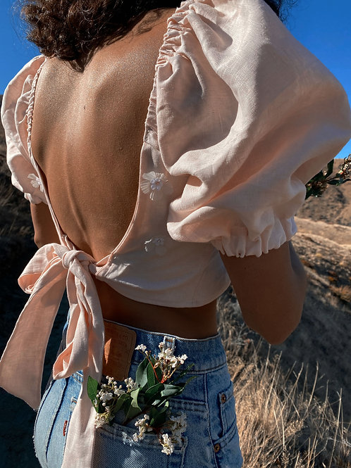 rosalie blouse (with flowers)