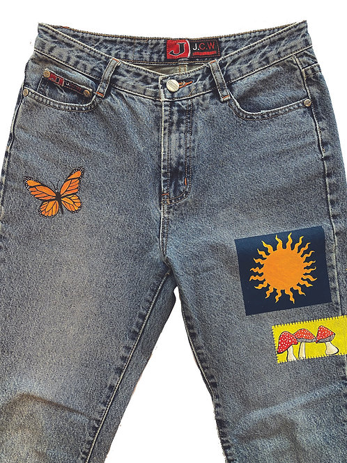 over the rainbow jeans