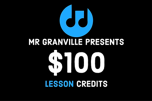 Private Music Lesson Gift Card $100